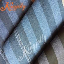 5.2oz cotton spandex stripe print denim fabric from China