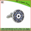 enamel metal cufflink with nickel silver plate cufflink