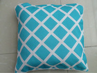 wholesale moistureproof printed striped canvas fabric outdoor/indoor pillow cheap wholesale printed salon chair cushion