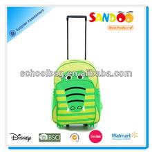 Lively animal cartoon kids school trolley bag