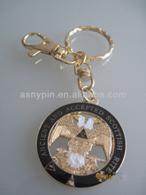 masonic eagle key chain/ die cut luxury gold key fob