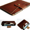 Fashion design genuine leather tablet sleeve case top quality