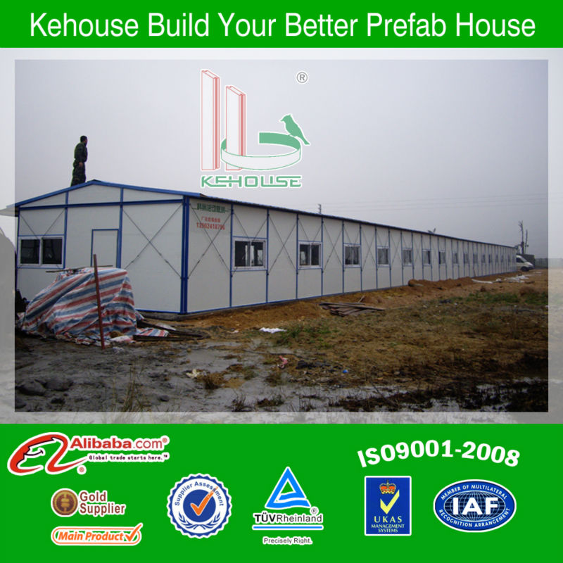 Temporary residential mobile light prefab factory building used on construction site lowest cost fast build