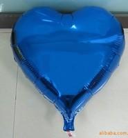 mini small blue heart shape helium foil balloons for promotion