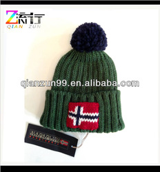 Men's Winter Stretch Knit Pom Pom Cuff Beanie Skull Ski Hat