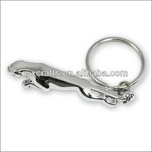 chrome plated 3D Jaguar keychain
