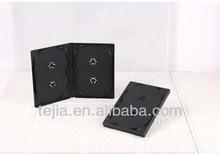 PP 14mm Multi black quad DVD case without digi tray