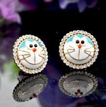 fancy design earrings jewelry, premier cartoon doraemon earrings good quality