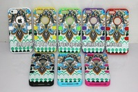 New Hybrid Combo Hard 3-Piece Butterfly Tribal Tribe Pattern High Impact Case Cover for iPhone 4 4S 4G