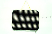 Black Gingham Ipad Case