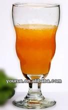 2013 most popular Irregular goblet glass cup /drink water glass