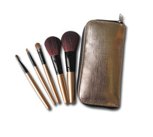 5 pcs brand cosmetic brush with pouch