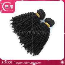 grade aaaaa 100% human brazilian hair kinky curl texture in stock