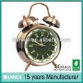 guang zhou 4 pulgadas retro de cuarzo de mesa de metal twin bell latón antiguo de estilo antiguo reloj de alarma