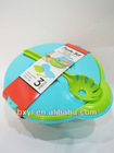 colorful pp salad bowl with stand
