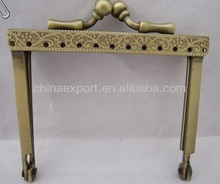 3inch Antique brass sewing metal purse frame kiss lock frame clutch frame purse