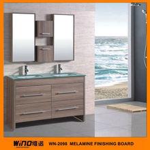 Western style Melamine board modern bathroom furniture in guangzhou
