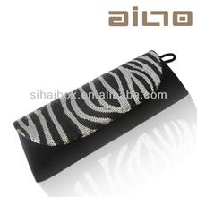 Hot Selling fashion zebra blue fingers lady wallet;sexy lady handbag