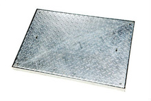 750 x 600 x 40mm Double Sealed, Chequer Plate Flush Manhole Cover