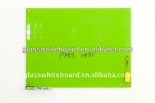 magnetic glass whiteboard--green