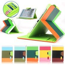 hybrid color leather case for ipad mini