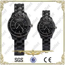 Fashion Couple Black Ceramic Watch+2014