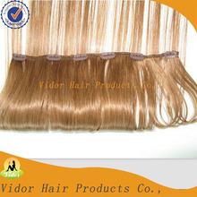 Cheap Color #14 Human Brazilian Hair Double Drawn Clip In Hair Extension Black