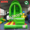 PVC inflatable toys green tree inflatable slide inflatable green slide