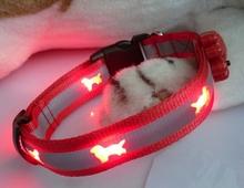 OEM designsled pet flashing smart dog nylon collar