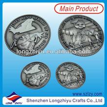 Die Struck Metal Safety Reflective Coin Badge Glow In Dark,Round Metal Souvenir Coin Badges,Commemorative Coin Pin,Challenge Coi
