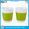 bulk white delicate porcelain double wall tea mug