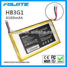 Original Genuine HB3G1 4000mAh Battery For HUAWEI S7-301u 301w 302 303 MediaPad7 Tablet Batterie Bateria Accumulator AKKU PIL