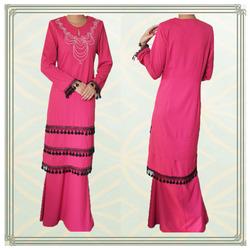 Fashion design lace baju kurung 2013