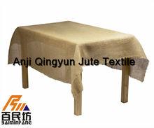 rustic burlap jute table cover 15'' wide 100'' long
