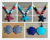 silicone teething beads for jewelry/non toxic baby rattles
