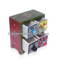Multicolored 4 drawer box