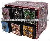 Multicolored 6 drawer box