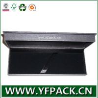 black cardboard display pen case with velvet holder