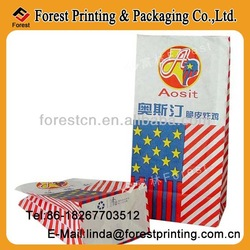 colorfully color Printed white Paper food Bag--fried chicken food bag