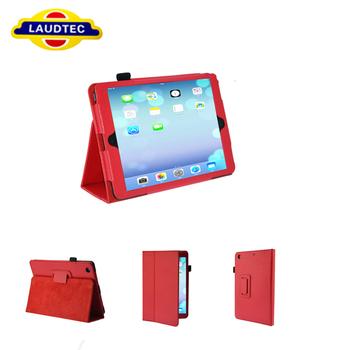 Book style leather case for iPad Mini Retina, Multi function case for iPad Mini 2, Magnetic sleep/wake up---LAUDTEC