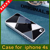 New arrival Fashion Plastic Case Gird Pattern for iphone4 4s 4g Hard plastic Back Cover for iphone 4 Case Free Shipping