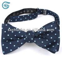 Silk Hand Mand Polka Dots Bow Tie Untied