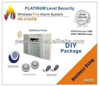 Wireless GSM fire alarm control panel