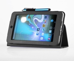 For HP Slate 7 Tablet Flip PU Leather Stand Case Cover + Free Stylus