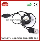 USB 2.0 A Male to Mini USB 5Pin Retractable Charge Data Cable for GPS MP3 Worldwide