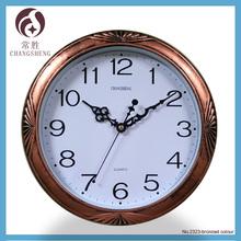 12 inches antique brass colour clock
