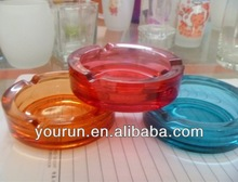 Colorful crystal glass ashtray/ promotional glass ashtray/ high white glass ashtray