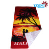 Printed chamois beach towel