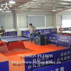 indoor pvc plastic floors/splastic floor protector table tennis court flooring