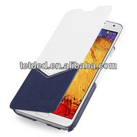 OEM Premium Leather Case for Samsung Galaxy Note 3/III N9000 N9002 N9005 -- Dijon II (Venus: White / Navy Blue)